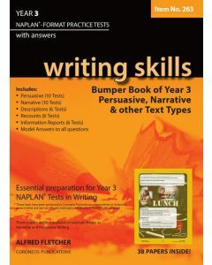 Writing Skills Bumper Book Year 3 NAPLAN* Format Practice Tests 2016 Edition (Item no. 263)