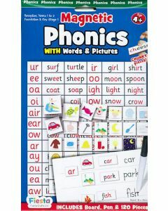 Magnetic Phonics with Words & Pictures for Ages 4+ (Board, Pen & 120 Pieces)