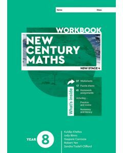 [Pre-order] New Century Maths 8 Workbook [Due 2021]