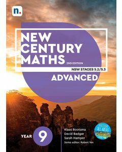[Pre-order] New Century Maths 9 Advanced 2e Student Book with 1 Access Code [Due T4 2020]