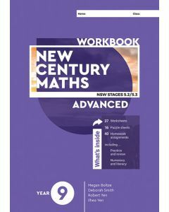 [Pre-order] New Century Maths 9 Advanced Workbook [Due T4 2020]