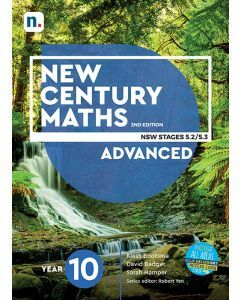 [Pre-order] New Century Maths 10 Advanced 2e Student Book with 1 Access Code [Due 2021]