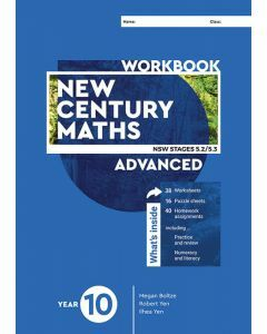 [Pre-order] New Century Maths 10 Advanced Workbook [Due mid-2021]