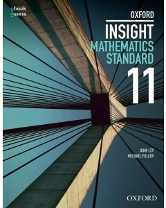 Oxford Insight Mathematics Standard Year 11 Student book + obook assess