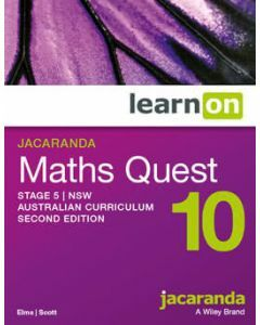 Jacaranda Maths Quest 10 Stage 5 NSW AC 2E LearnON (Access Code)