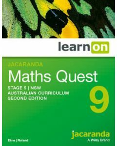 Jacaranda Maths Quest 9 Stage 5 NSW AC 2E LearnON (Access Code)