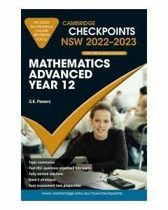 [Pre-order] Cambridge Checkpoints NSW Mathematics Advanced Year 12 2022-23 [Due Sep 2021]
