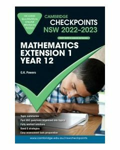 [Pre-order] Cambridge Checkpoints NSW Mathematics Extension 1 Year 12 2022-23 [Due Sep 2021]