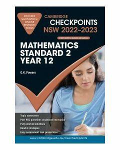 [Pre-order] Cambridge Checkpoints NSW Mathematics Standard 2 Year 12 2022-23 [Due Sep 2021]