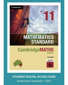 CambridgeMATHS Mathematics Standard Year 11 interactive textbook (Access Code)