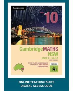CambridgeMATHS NSW Year 10 5.1/5.2/5.3 Second Edition Online Teaching Suite