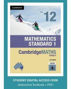 CambridgeMATHS Mathematics Standard 1 Year 12 interactive textbook (Access Code)