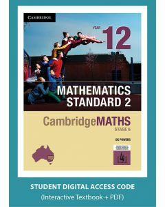 CambridgeMATHS Mathematics Standard 2 Year 12 interactive textbook (Access Code)