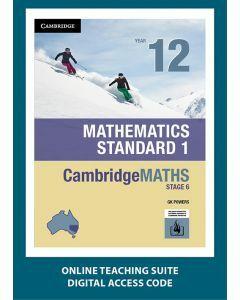 CambridgeMATHS Mathematics Standard 1 Year 12 Online Teaching Suite