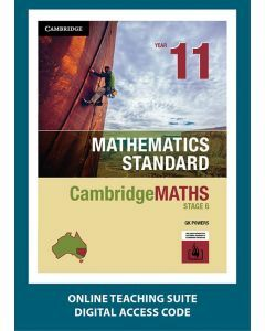CambridgeMATHS Mathematics Standard Year 11 Online Teaching Suite