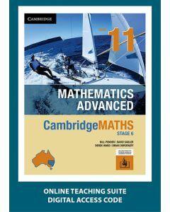 CambridgeMATHS Mathematics Advanced Year 11 Online Teaching Suite