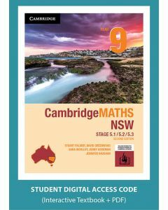 CambridgeMATHS NSW Year 9 5.1/5.2/5.3 Second Edition interactive textbook (Access Code)