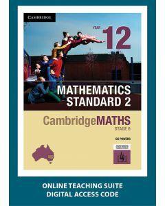 CambridgeMATHS Stage 6 Mathematics Standard 2 Year 12 Online Teaching Suite