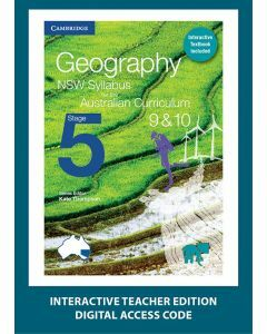 Geography NSW for the AC Stage 5 Year 9&10 Interactive Textbook Teacher Edition (1 Access Code)