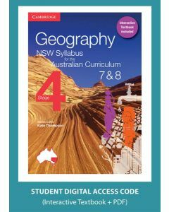 Geography NSW for the AC Stage 4 Year 7&8 digital (1 Access Code)