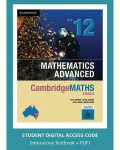 CambridgeMATHS Mathematics Advanced Year 12 interactive textbook (Access Code)