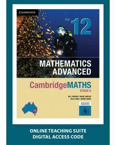 [Pre-order] CambridgeMATHS Mathematics Advanced Year 12 Online Teaching Suite [Due Sep 2019]