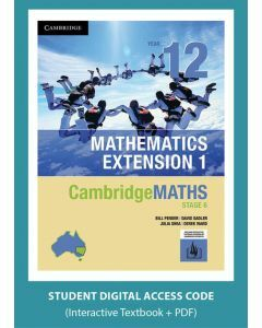 CambridgeMATHS Mathematics Extension 1 Year 12 interactive textbook (Access Code)