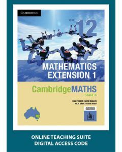 CambridgeMATHS Mathematics Extension 1 Year 12 Online Teaching Suite
