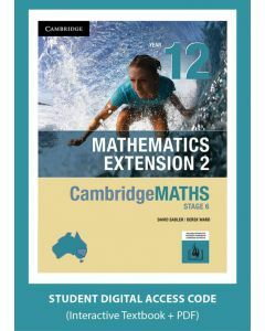 [Pre-order] CambridgeMATHS Mathematics Extension 2 Year 12 interactive textbook (Access Code) [Due Oct 2019]