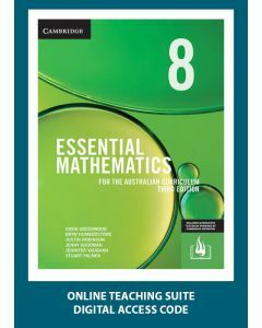[Pre-order] Essential Mathematics Australian Curriculum Year 8 3e Online Teaching Suite Code [Due Nov 2019]