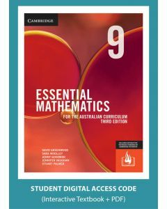Essential Mathematics Australian Curriculum Year 9 3e interactive textbook (Access Code)