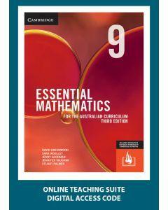 [Pre-order] Essential Mathematics Australian Curriculum Year 9 3e Online Teaching Suite Code [Due Oct 2019]