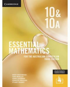 [Pre-order] Essential Mathematics Australian Curriculum Year 10&10A 3e (print and interactive textbook) [Due Sep 2019]
