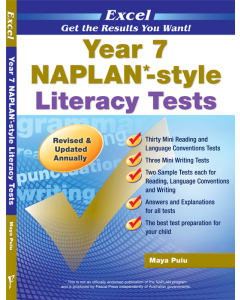 Excel NAPLAN*-style Literacy Tests Year 7