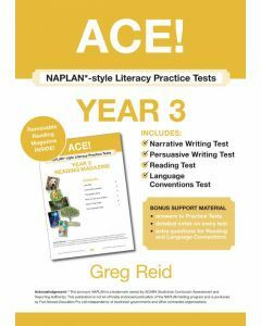 ACE! NAPLAN*-style Literacy Practice Tests Year 3 with Year 3 Reading Magazine