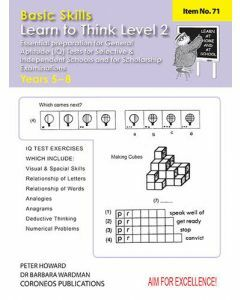Learn to Think Level 2 Yrs 5 to 8 (Basic Skills No. 71)