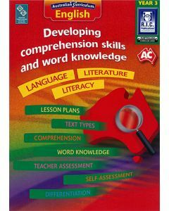 Developing comprehension skills and word knowledge Year 3