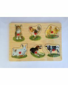 Animals Photographic Wooden Puzzle