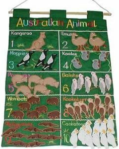 Australian Animals Count 1 to 10 Wall Hanging