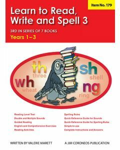 Learn to Read, Write & Spell Book 3 Yrs 1 to 3 (Item no. 179)