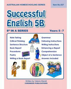 Successful English 5B - Australian Homeschooling Series (Item No. 537)