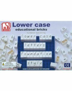 Coko Learning Bricks: Lower Case Educational Bricks (Foundation Style Writing)
