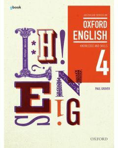 Oxford English 4 Knowledge and Skills Australian Curriculum Student Book + obook