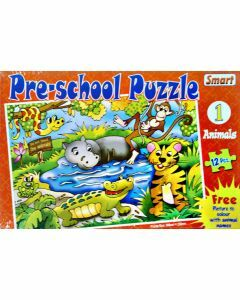 Preschool Puzzle 1: Animals (12 pieces)