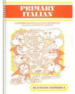 Primary Italian Blackline Master 3