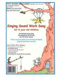Singing Sound Work Student Cards for 5 year old children
