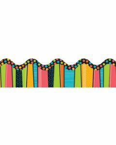 Stylin' Stripes Scalloped Border