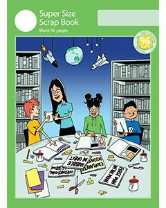 Super Size Scrap Book 96pp Green Cover