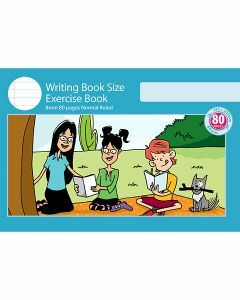 Writing Book Size Exercise Book 8mm Normal Ruled 80pp
