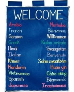 Welcome in Different Languages Wall Hanging